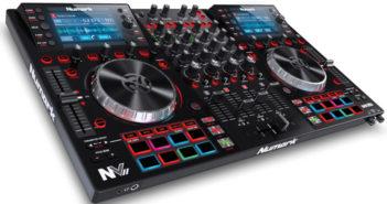 Numarks intelligenter Controller für Serato DJ mit zwei integrierten 4,3 Zoll Displays.