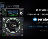 Serato DJ Pro Integration für Denon DJ SC5000M und PRIME 4